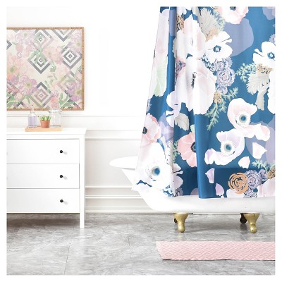 khristian a howell une femme shower curtain blue deny designs