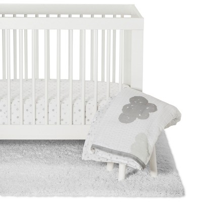 Crib Bedding Set In the Clouds 4pc - Cloud Island™ Platinum
