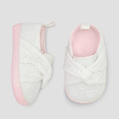 Baby Girls' Eyelet Slip on Sneakers - Cat & Jack™ White