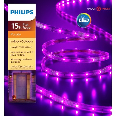 Philips 135ct LED Halloween Flat Rope Lights Purple