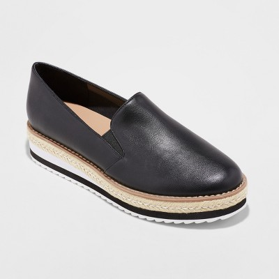 Leather Womens Slip On Shoes