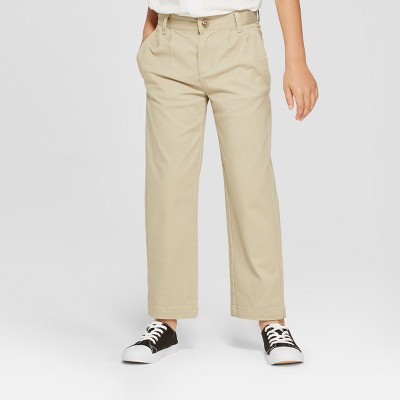 Boys' Pleated Uniform Chino Pants - Cat & Jack™