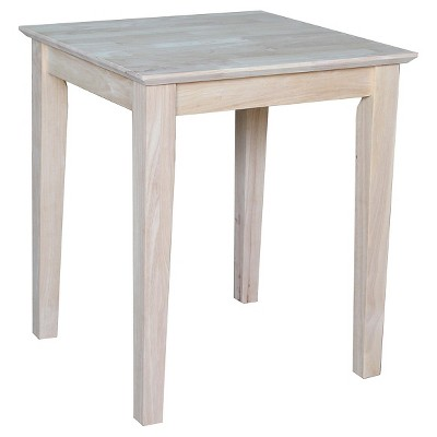 shaker tall end table international concepts