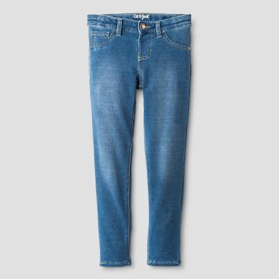 Girls' Knit Leggings Pants - Cat & Jack™ Medium Blue