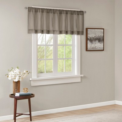 Viola Faux Silk Solid Pleated Valance