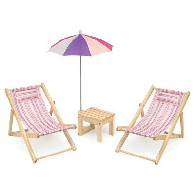 chair with umbrella attached office for heavy person badger basket two doll beach set table and summer stripes target