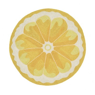 lemon kitchen rug granite counters slice liora manne target about this item