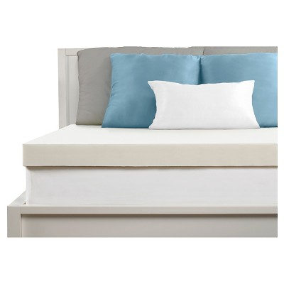 "Comfort Revolution 4"" Memory Foam Topper - White"