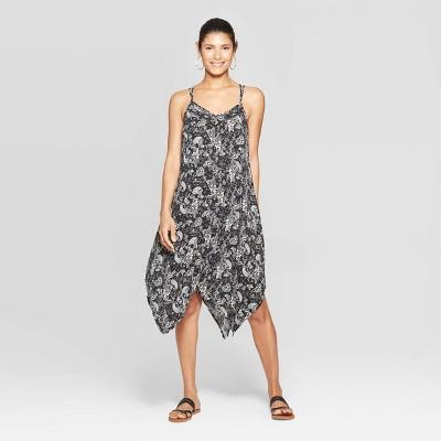 Women's Paisley Print Sleeveless Halter Neck Strappy Maxi Dress - Knox Rose™ Black