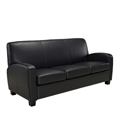 Dallas Faux Leather Sofa Black - Dorel Living