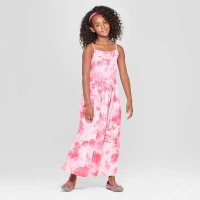 Girls' Tiedye Maxi Dress - Cat & Jack™ Pink