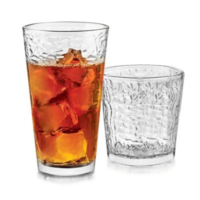 Libbey Frost Glass 16pc Drinkware Set