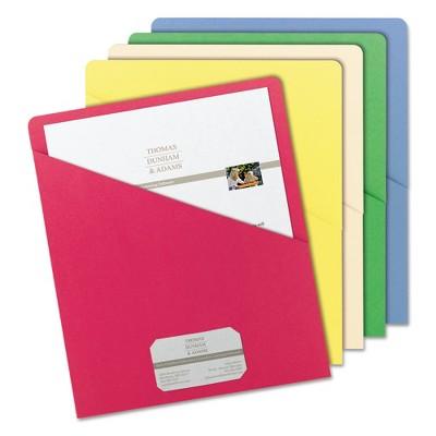 Smead 812 X 11 Slash Pocket 11 Point Folder Target