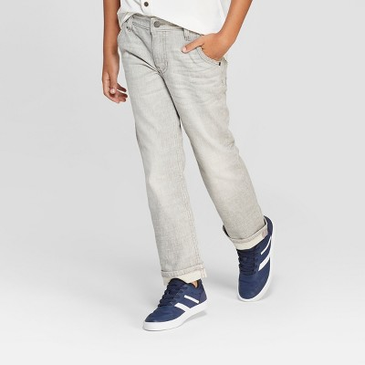 Boys' Spirited Straight Jeans - Cat & Jack™ Gray
