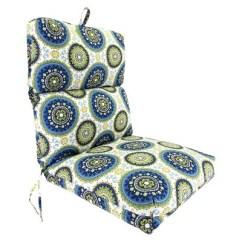 Green Chair Cushions Plastic Wood Chairs Outdoor Universal Cushion Blue Yellow Geometric Target