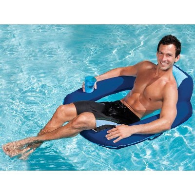 pool chair floats target stool nz swimways spring float sunseat floating inflatable swimming lounge