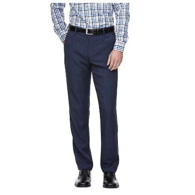 Haggar H26 - Men's Tall Straight Fit Performance Pants Blue Heather 32x36