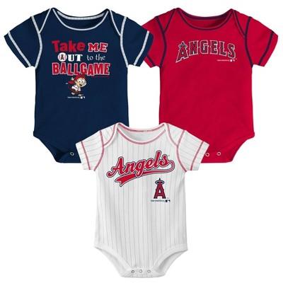 MLB Los Angeles Angels Boys' 3pk Bodysuit Set
