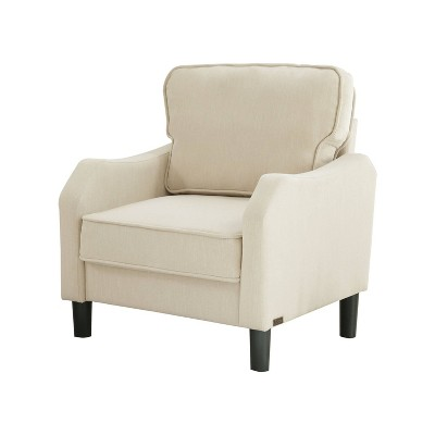 Mallory Fabric Armchair Beige - Abbyson Living