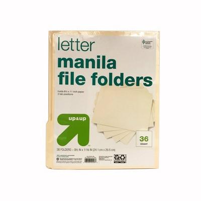 manila file folders 36ct