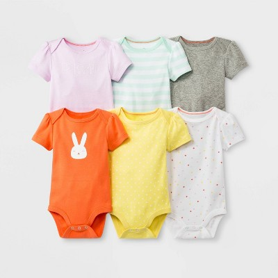 Baby Girls' 6pk Short Sleeve Bodysuit Sets - Cloud Island™