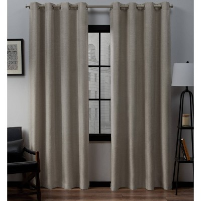 Loha Linen Window Curtain Panel Pair - Exclusive Home™