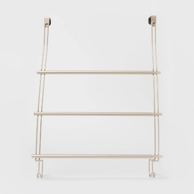 expandable over the door towel rack satin threshold