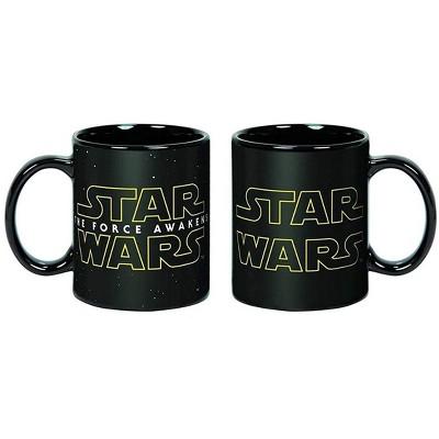 Star Wars/ Force Awakens Logo Heat Reveal 20oz Ceramic Coffee Mug