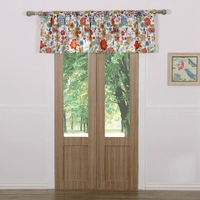 greenland home fashion astoria high quality window valance 84 x19 2 in white color