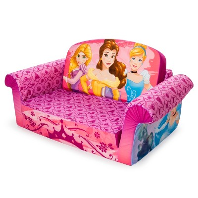disney flip open sofa bed serta sofas to go marshmallow furniture children s 2 in 1 foam princess