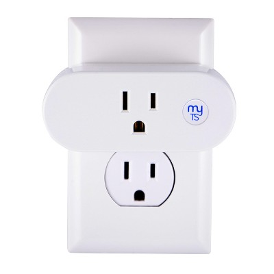 myTouchSmart Indoor Plug In Outlet Wi-Fi Timer - White