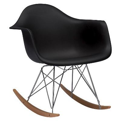 cheap modern rocking chair windsor dining dario plastic mid century black baxton studio target