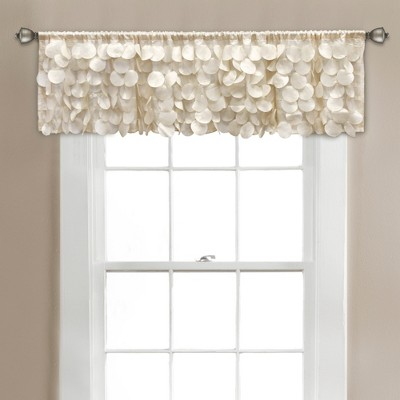 "14""x70"" Gigi Blackout Window Valance Ivory - Lush Décor"