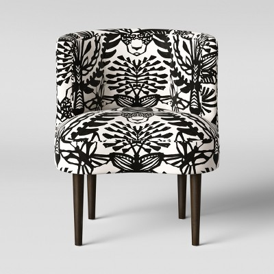 black and white accent chairs with arms small upholstered swivel chair clary curved back opalhouse target