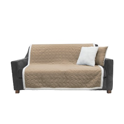 Microfiber with Sherpa Binding Living Room Set - Sure Fit