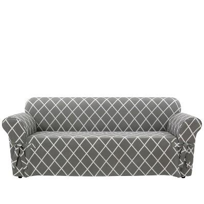 Lattice Sofa Slipcover - Sure Fit