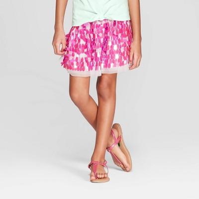 Girls' Sequin Tutu Skirt - Cat & Jack™ Magenta