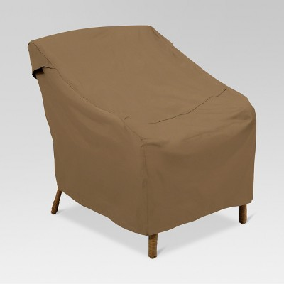 club chair covers wassily brown leather polyester patio cover 34 h threshold target
