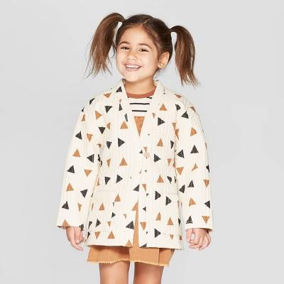 Toddler Girls' Long Sleeve Kimono Jacket - art class™ Off-White
