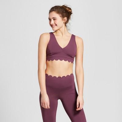 Women   lightweight premium scalloped edge sports bra joylab also target rh