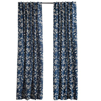 """Floral Damask Rod-Pocket Insulated Curtain Valance, 42"""" W x 14"""" L - Plow & Hearth"""