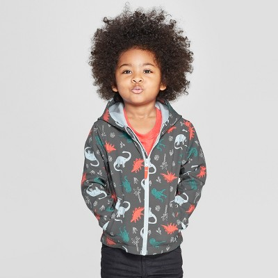 Toddler Boys' Dinosaur Softshell Jacket - Cat & Jack™ Charcoal