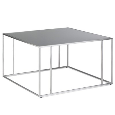 32 daley coffee table stainless steel wyndenhall