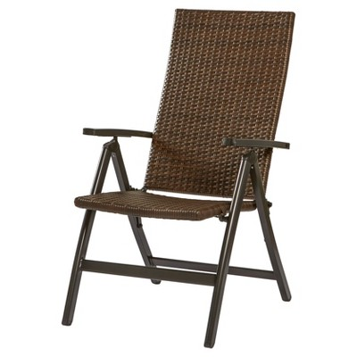 woven outdoor chair recliner covers bed bath and beyond hand pe wicker reclining brown greendale home fashions target