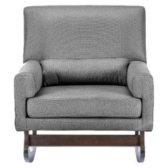 Sofa Rocking Chair Durablend Antique Imperium Linen Contemporary With Pillow Gray Baxton Studio Target