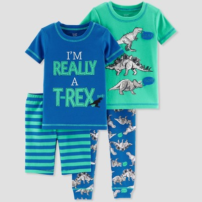 Baby Boys' 4pc T-Rex Pajama Set - Just One You® made by carter's Blue