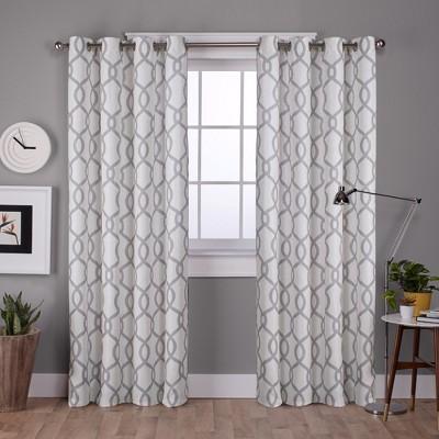 Kochi Linen Blend Grommet Top Window Curtain Panel - Exclusive Home®