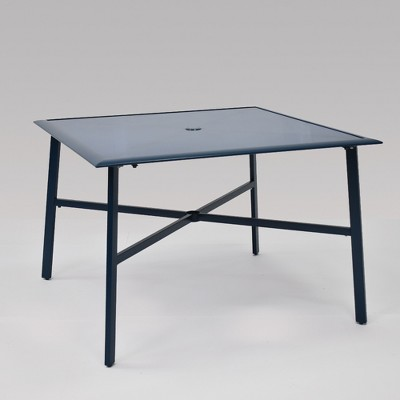 fisher 4 person square patio dining table blue project 62