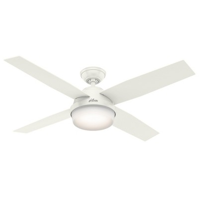 """52"""" Dempsey Damp Fresh White Ceiling Fan with Light with Handheld Remote - Hunter Fan"""