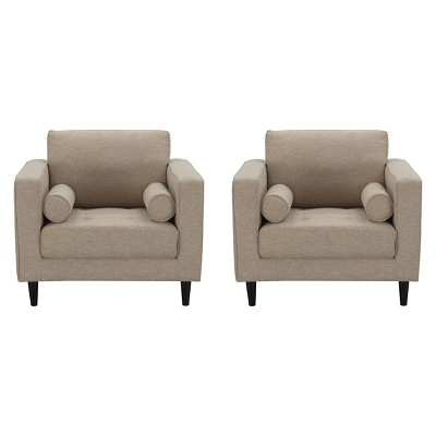 2pc Arthur Tweed Armchairs - Manhattan Comfort